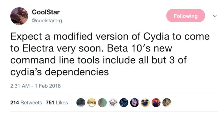 CoolStar Announces Cydia for iOS 11 1 2 - 11 0 will Arrive