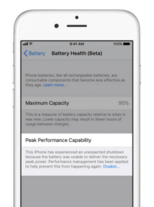 iOS 11.3 Battery Health Feature